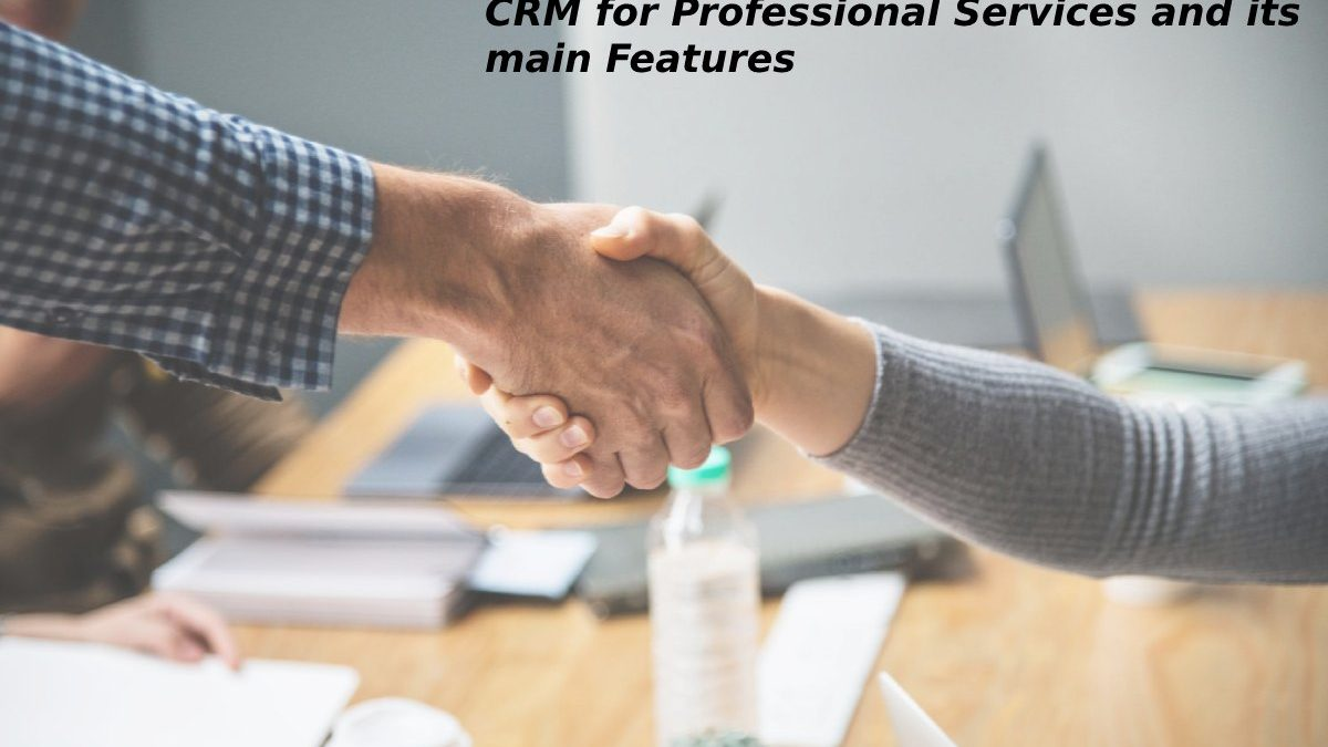 CRM for Professional Servicesand its main Features