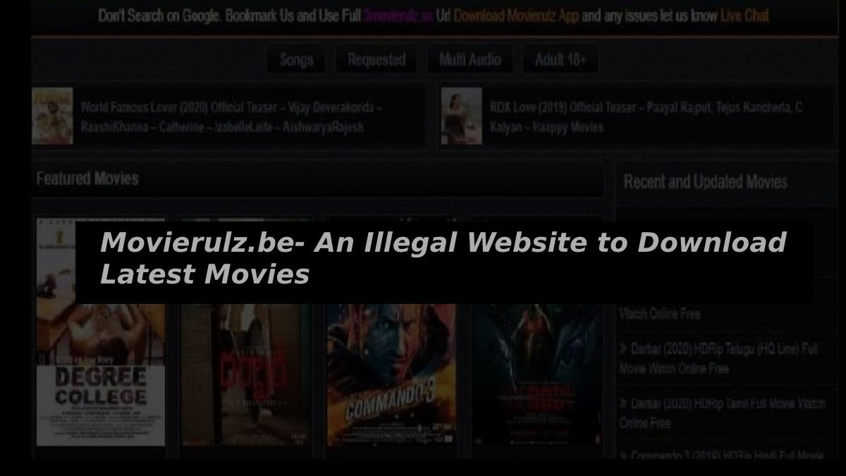 Movierulz.be- An Illegal Website to Download Latest Movies