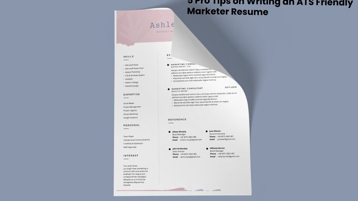 5 Pro Tips on Writing an ATS Friendly Marketer Resume